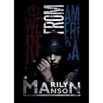 vlajka Marilyn Manson - American Graffiti, HEART ROCK, Marilyn Manson