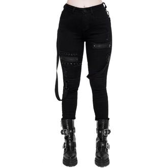 nohavice dámske KILLSTAR - Spiked - BLACK