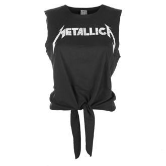 tielko dámske (top) Metallica - White Logo - Charcoal - AMPLIFIED