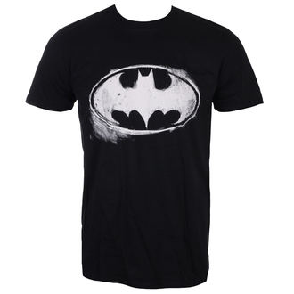 tričko pánske BATMAN - LOGO MONO DISTRESSED - BLACK - LIVE NATION, LIVE NATION