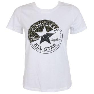 tričko dámske CONVERSE - Spliced Leopard - White, CONVERSE