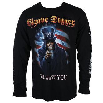 tričko pánske s dlhým rukávom GRAVE DIGGER - UNCLE SAM 2016 - JSR, Just Say Rock, Grave Digger