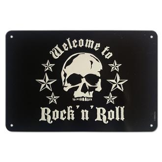 ceduľa Skull Rock'n'Roll - Rockbites, Rockbites