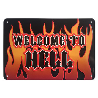 ceduľa Welcome to Hell - Rockbites, Rockbites