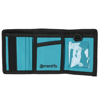 peňaženka MEATFLY - Gimp - Black, Turquoise, MEATFLY