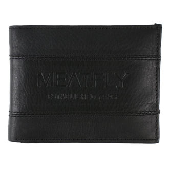 peňaženka MEATFLY - Hurricane Leather - Black Leather, MEATFLY
