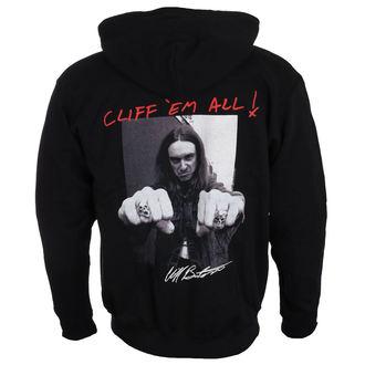 mikina pánska Metallica - Cliff Burton - fists Black, Metallica
