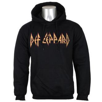 mikina pánska Def Leppard - Distressed Logo - Black - HYBRIS, HYBRIS, Def Leppard