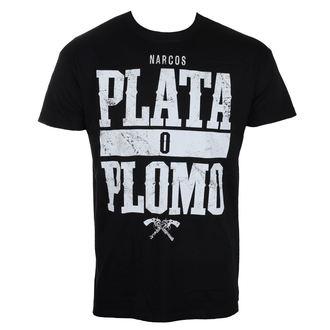 tričko pánske Narcos - Plata o Plomo - Black - HYBRIS, HYBRIS