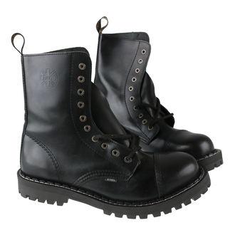 topánky STEEL - 10 dierkové čierne ( 105/106 Black) - POUŽÍVANÉ, STEEL