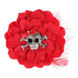 sponka do vlasov Skull - Red