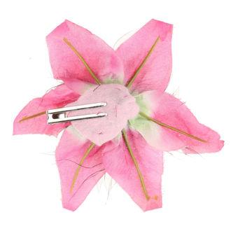 sponka do vlasov Skull - Flower - Pink, NNM