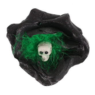 sponka do vlasov Skull - Black / Green Feathers