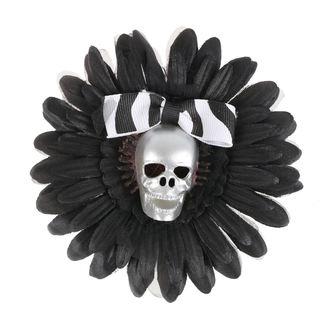 sponka do vlasov Skull - Black / Silver