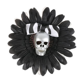 sponka do vlasov Skull - Black / Silver, NNM