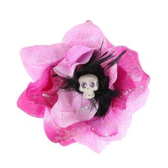 sponka do vlasov Skull - Pink/Black