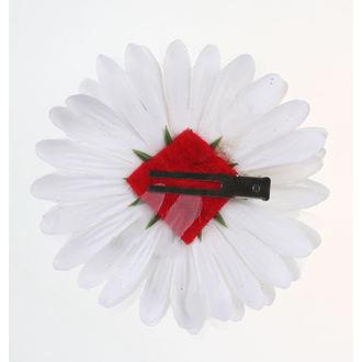 sponka do vlasov Skull - White / Red