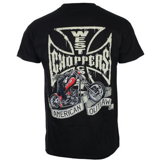 tričko pánske West Coast Choppers - CHOPPER DOG - Black, West Coast Choppers