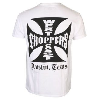 tričko pánske West Coast Choppers - OG CROSS ATX - White, West Coast Choppers
