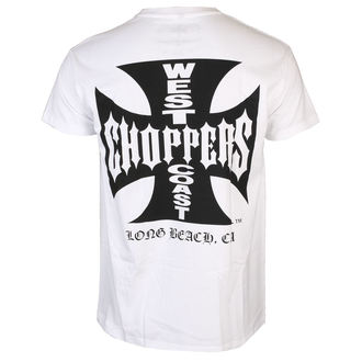 tričko pánske West Coast Choppers - OG CROSS - White / Black, West Coast Choppers