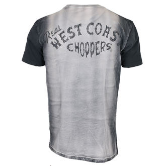 tričko pánske West Coast Choppers - REAL - Washed black/white, West Coast Choppers