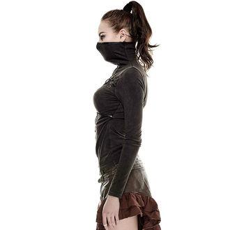 tričko dámske s dlhým rukávom PUNK RAVE - Catacomb - brown, PUNK RAVE