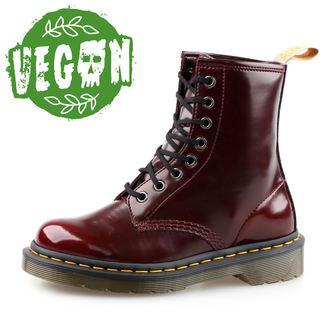 topánky 8 dierkové Dr. Martens - Cambridge Brush - Vegan 1460 - Cherry Red, Dr. Martens