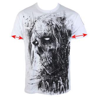 tričko pánske ALISTAR - Zombie Survive - white - POŠKODENÉ, ALISTAR
