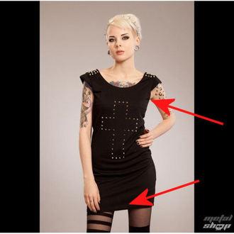 šaty dámske POIZEN INDUSTRIES - Cross Spike - Black - POŠKODENÉ, POIZEN INDUSTRIES