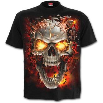 tričko detské SPIRAL - SKULL BLAST - Black, SPIRAL