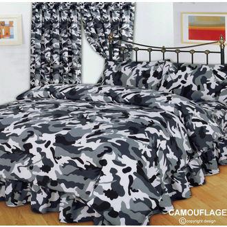 obliečky CAMOUFLAGE BLACK