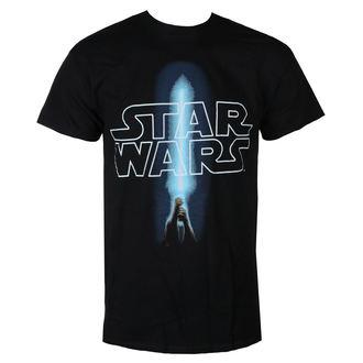 tričko pánske STAR WARS - LOGO & SABER - BLACK - LIVE NATION, LIVE NATION, Star Wars