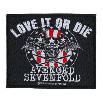 nášivka AVENGED SEVENFOLD - LOVE IT OR DIE - RAZAMATAZ, RAZAMATAZ, Avenged Sevenfold