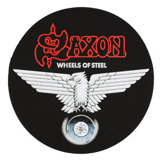nášivka veľká SAXON - WHEELS OF STEEL - RAZAMATAZ, RAZAMATAZ, Saxon