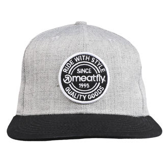 šiltovka MEATFLY - COMP SNAPBACK B - GREY HEATHER / BLACK, MEATFLY