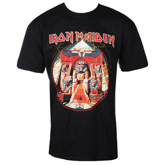 tričko pánske Iron Maiden - Powerslave Lightning Circle - Blk - ROCK OFF, ROCK OFF, Iron Maiden