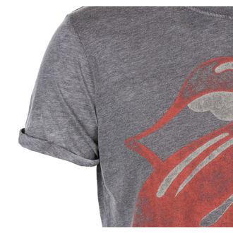 tričko pánske Rolling Stones - Vintage Tongue Logo - Charc BO - ROCK OFF, ROCK OFF, Rolling Stones