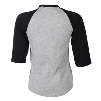tričko dámske s 3/4 rukávom BLACK HEART - BH DEVIL ROSE - GREY, BLACK HEART