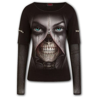 tričko dámske s dlhým rukávom SPIRAL - ZIPPED, SPIRAL