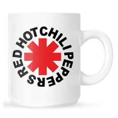 hrnček Red Hot Chili Peppers - Original Logo Astrisk - White, Red Hot Chili Peppers