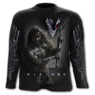 tričko pánske s dlhým rukávom SPIRAL - Vikingovia - ROL LO AXE - KEEP CALM, SPIRAL