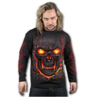 tričko pánske s dlhým rukávom SPIRAL - SKULL LAVA, SPIRAL