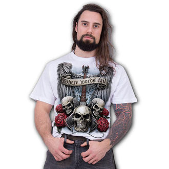 tričko pánske SPIRAL - UNSPOKEN - White, SPIRAL