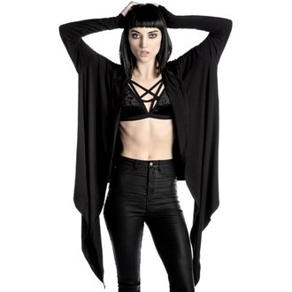 mikina dámska (cardigan) KILLSTAR - Raider Cloak - BLACK, KILLSTAR