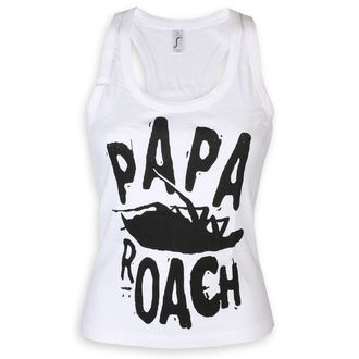 tielko dámske Papa Roach - Classic Logo - White - KINGS ROAD, KINGS ROAD, Papa Roach