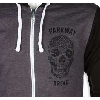 mikina pánska Parkway Drive - Skull - Charcoal Grey - KINGS ROAD