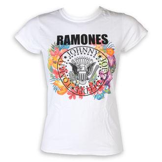 tričko dámske Ramones - Circle Flowers - White - ROCK OFF, ROCK OFF, Ramones
