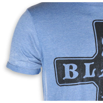 tričko pánske Black Sabbath - Burnout Mid Blue - ROCK OFF, ROCK OFF, Black Sabbath