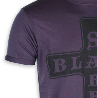 tričko pánske Black Sabbath - Burnout Navy / Red - ROCK OFF, ROCK OFF, Black Sabbath