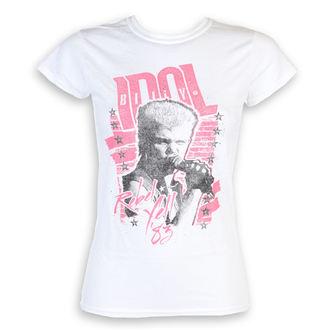 tričko dámske Billy Idol - Rebel Yell - White - ROCK OFF, ROCK OFF, Billy Idol
